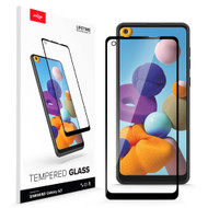 ZIZO TEMPERED GLASS Screen Protector for Samsung Galaxy A21 Full Glue Clear Screen Protector with Anti Scratch and 9H Hardness - Black GLSHD-SAMGA21-BLK