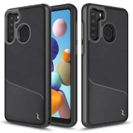 ZIZO DIVISION Series for Samsung Galaxy A21 Case - Sleek Modern Protection - Nylon Black DVS-SAMGA21-NYBK