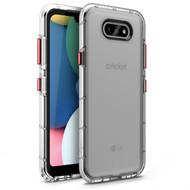 CLICK SURGE Series for LG Fortune 3 Case - Sleek Clear Case Customizable Buttons - Clear SUR-LGFT3-CL