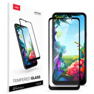 ZIZO TEMPERED GLASS Screen Protector for LG Harmony 4 Full Glue Clear Screen Protector with Anti Scratch and 9H Hardness - Black GLSHD-LGHM4-BLK