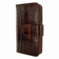 Piel Frama 764 Brown Crocodile WalletMagnum Leather Case for Apple iPhone 7 / 8
