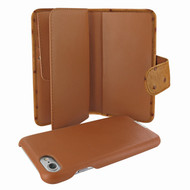 Piel Frama 764 Tan Ostrich WalletMagnum Leather Case for Apple iPhone 7