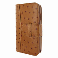 Piel Frama 764 Tan Ostrich WalletMagnum Leather Case for Apple iPhone 7 / 8