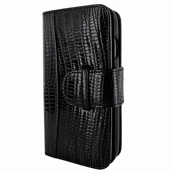Piel Frama 764 Black Lizard WalletMagnum Leather Case for Apple iPhone 7 / 8