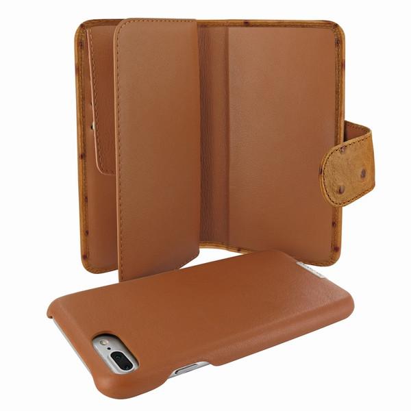 Piel Frama 769 Tan Ostrich WalletMagnum Leather Case for Apple iPhone 7 Plus