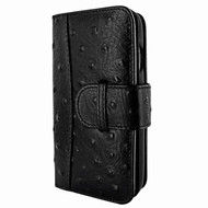 Piel Frama 769 Black Ostrich WalletMagnum Leather Case for Apple iPhone 7 Plus / 8 Plus