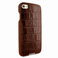 Piel Frama 763 Brown Crocodile FramaSlimGrip Leather Case for Apple iPhone 7