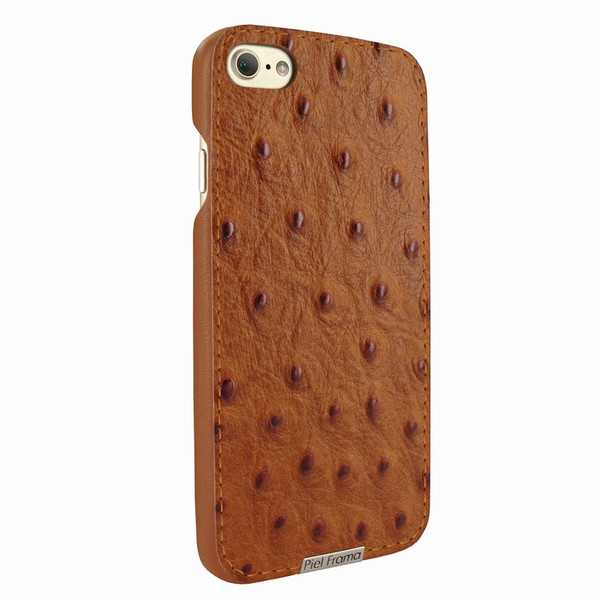 Piel Frama 763 Tan Ostrich FramaSlimGrip Leather Case for Apple iPhone 7 / 8