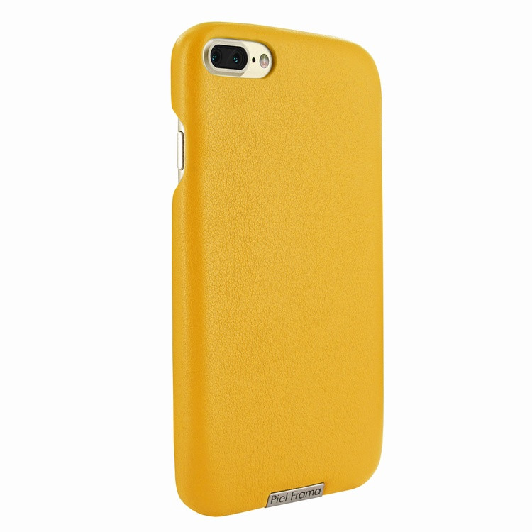 8a6671f2bbafea Piel Frama 768 Yellow FramaSlimGrip Leather Case for Apple iPhone 7 Plus /  8 Plus - Cases.com