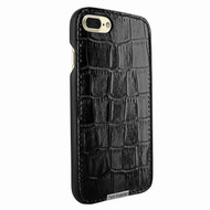 Piel Frama 768 Black Crocodile FramaSlimGrip Leather Case for Apple iPhone 7 Plus