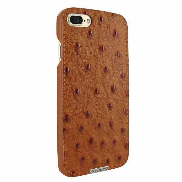 Piel Frama 768 Tan Ostrich FramaSlimGrip Leather Case for Apple iPhone 7 Plus / 8 Plus