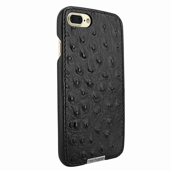 Piel Frama 768 Black Ostrich FramaSlimGrip Leather Case for Apple iPhone 7 Plus / 8 Plus