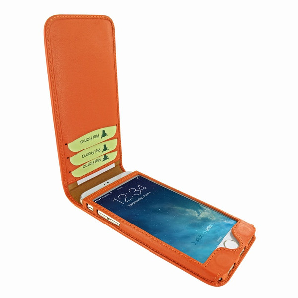 Piel Frama 761 Orange Classic Magnetic Leather Case for Apple iPhone 7 / 8