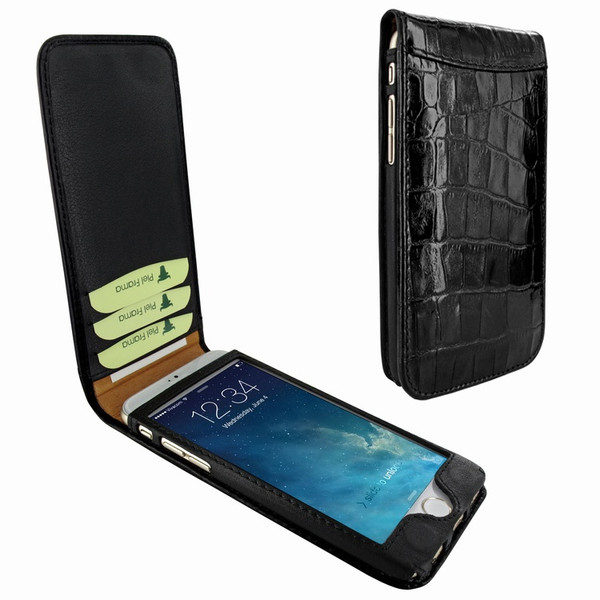Piel Frama 761 Black Crocodile Classic Magnetic Leather Case for Apple iPhone 7 / 8