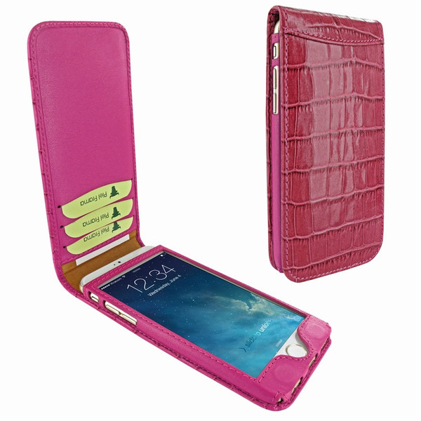 Piel Frama 761 Pink Crocodile Classic Magnetic Leather Case for Apple iPhone 7 / 8