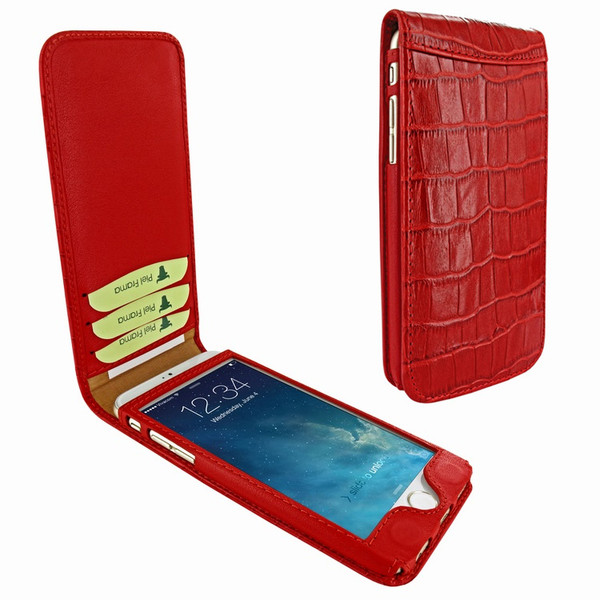 Piel Frama 766 Red Crocodile Classic Magnetic Leather Case for Apple iPhone 7 Plus
