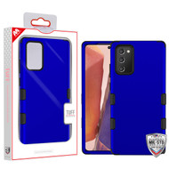 MyBat TUFF Hybrid Protector Cover [Military-Grade Certified] for Samsung Galaxy Note 20 - Titanium Dark Blue / Black