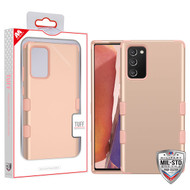 MyBat TUFF Hybrid Protector Cover [Military-Grade Certified] for Samsung Galaxy Note 20 - Rose Gold / Rose Gold