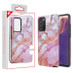 MyBat Fuse Hybrid Protector Cover for Samsung Galaxy Note 20 - Purple Marbling / Black