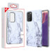 MyBat Fuse Hybrid Protector Cover for Samsung Galaxy Note 20 - White Marbling / Iron Gray