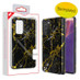 MyBat Fuse Hybrid Protector Cover for Samsung Galaxy Note 20 - Electroplated Black Marbling / Black