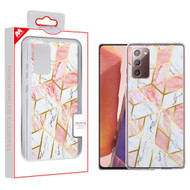 MyBat Fusion Protector Cover for Samsung Galaxy Note 20 - Electroplated Pink Marbling