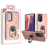 MyBat Hybrid Protector Cover (with Ring Holder Kickstand Bottle) for Samsung Galaxy Note 20 - Rose Gold / Black