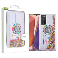 Airium Quicksand Glitter Hybrid Protector Cover for Samsung Galaxy Note 20 - Dreamcatcher & Gold Stars