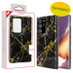 MyBat Fuse Hybrid Protector Cover for Samsung Galaxy Note 20 Ultra - Electroplated Black Marbling / Black