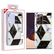 MyBat Fusion Protector Cover for Samsung Galaxy Note 20 Ultra - Electroplated Black Marbling