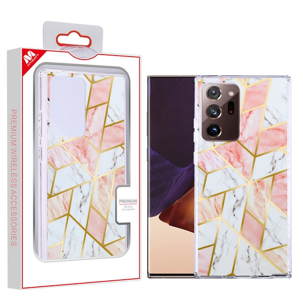 MyBat Fusion Protector Cover for Samsung Galaxy Note 20 Ultra - Electroplated Pink Marbling