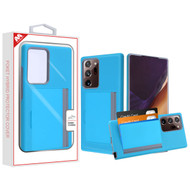 MyBat Poket Hybrid Protector Cover (with Back Film) for Samsung Galaxy Note 20 Ultra - Blue / Gray