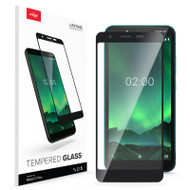 ZIZO TEMPERED GLASS Screen Protector for Nokia C2 Tava Full Glue Clear Screen Protector with Anti Scratch and 9H Hardness - Black GLSHD-NOKC2-BLK