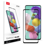 ZIZO TEMPERED GLASS Screen Protector for Galaxy A51 5G Full Glue Clear Screen Protector with Anti Scratch and 9H Hardness - Black GLSHD-SAMGA51-BLK