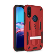 ZIZO TRANSFORM Series for Moto E (2020) Case - Rugged Dual-layer Protection with Kickstand - Red TFM-MOTE2020-RDBK
