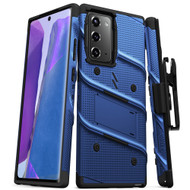 ZIZO BOLT Series for Galaxy Note 20 Case with Kickstand Holster Lanyard - Blue & Black BOLT-SAMGN20-BLBK