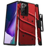 ZIZO BOLT Series for Galaxy Note 20 Ultra Case with Kickstand Holster Lanyard - Red & Black BOLT-SAMGN20PLUS-RDBK