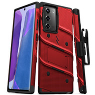 ZIZO BOLT Series for Galaxy Note 20 Case with Kickstand Holster Lanyard - Red & Black BOLT-SAMGN20-RDBK