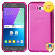 MyBat Sheer Glitter Premium Candy Skin Cover for Samsung J327P (J3 2017) - Transparent Hot Pink