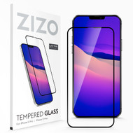 ZIZO TEMPERED GLASS Screen Protector for iPhone 12 / iPhone 12 Pro Full Glue Clear Screen Protector with Anti Scratch and 9H Hardness - Black GLSHD-IPH1261-BLK