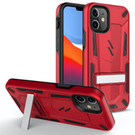 ZIZO TRANSFORM Series for iPhone 12 Mini Case - Rugged Dual-layer Protection with Kickstand - Red TFM-IPH1254-RDBK