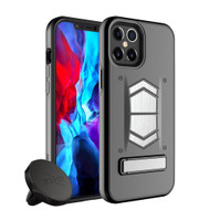 ZIZO ELECTRO Series iPhone 12 Pro Max Case - Kickstand  Screen Protector and Air Vent Mount - Black ELC-IPH1267-BKBK