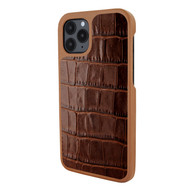 Piel Frama 851 Brown Crocodile LuxInlay Leather Case for Apple iPhone 12 / iPhone 12 Pro