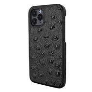 Piel Frama 851 Black Ostrich LuxInlay Leather Case for Apple iPhone 12 / iPhone 12 Pro