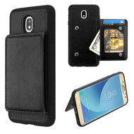 MyBat Flip Wallet Executive Protector Cover(TPU Case with Snap Fasteners) for Samsung J737P (Galaxy J7 (2018)) - Black