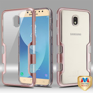MyBat TUFF Panoview Hybrid Protector Cover for Samsung J737P (Galaxy J7 (2018)) - Metallic Rose Gold / Transparent Clear