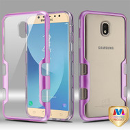 MyBat TUFF Panoview Hybrid Protector Cover for Samsung J737P (Galaxy J7 (2018)) - Metallic Purple / Transparent Clear