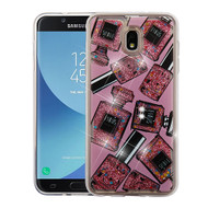 Airium Quicksand Glitter Hybrid Protector Cover for Samsung J737P (Galaxy J7 (2018)) - Perfume and Polish & Pink