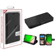 MyBat MyJacket Wallet Element Series for Motorola Moto G7 Play - Black