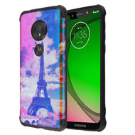 MyBat Hologram Protector Cover for Motorola Moto G7 Play - Eiffel Tower / Black